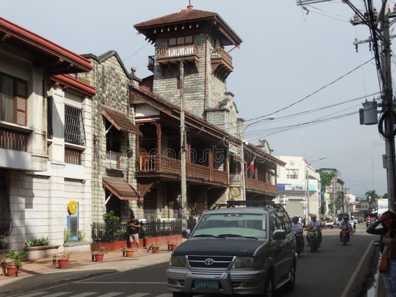 Zamboanga street scene, Mindanao, Philippines. Old city hall in Zamboanga, Mindanao, Philippines royalty free stock image
