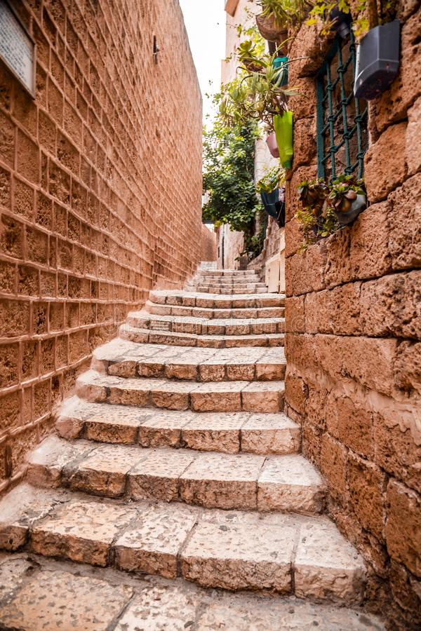 The old city of Jaffa, Israel. The old city of Jaffa, an old Arab village near the modern city of Tel Aviv, Israel. Jaffa is a popular touristic spot with stock photo