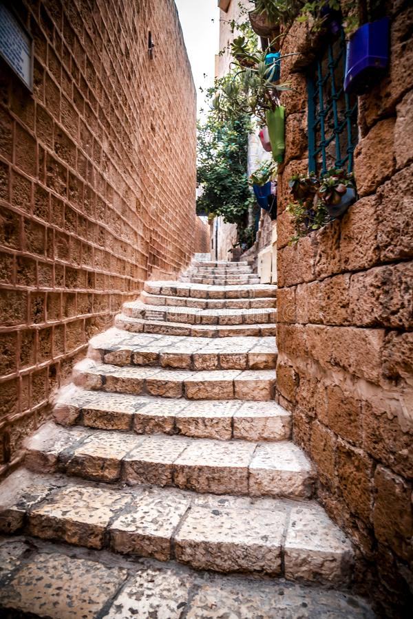 The old city of Jaffa, Israel. The old city of Jaffa, an old Arab village near the modern city of Tel Aviv, Israel. Jaffa is a popular touristic spot with stock photography
