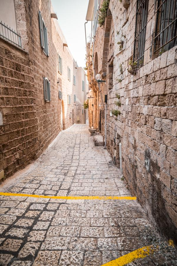 The old city of Jaffa, Israel. The old city of Jaffa, an old Arab village near the modern city of Tel Aviv, Israel. Jaffa is a popular touristic spot with royalty free stock image