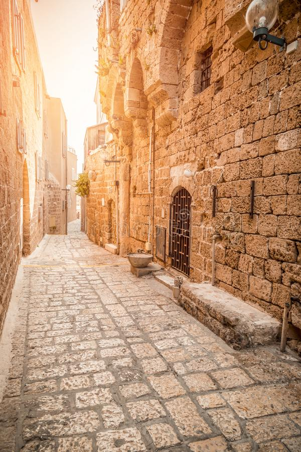 The old city of Jaffa, Israel. The old city of Jaffa, an old Arab village near the modern city of Tel Aviv, Israel. Jaffa is a popular touristic spot with stock image