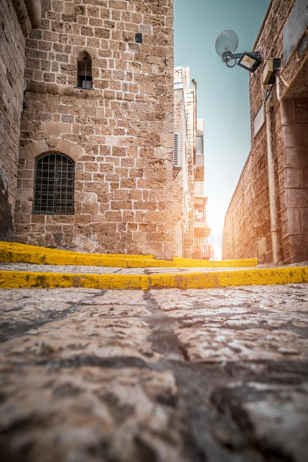 The old city of Jaffa, Israel. The old city of Jaffa, an old Arab village near the modern city of Tel Aviv, Israel. Jaffa is a popular touristic spot with royalty free stock photo