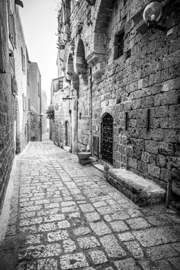 The old city of Jaffa, Israel. Jaffa, Israel - June 12, 2019: The old city of Jaffa, an old Arab village near the modern city of Tel Aviv, Israel. Jaffa is a royalty free stock photos