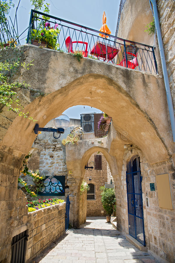 Old city Jaffa. The old port city of Jaffa in Tel Aviv stock image