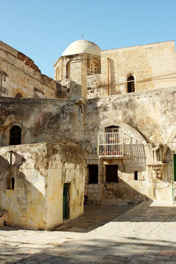 Old city Jerusalem Israel. Ruins in old city Jerusalem Israel royalty free stock images