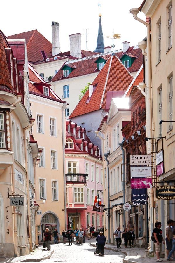 Old city on June 16, 2012 in Tallinn, Estonia stock image