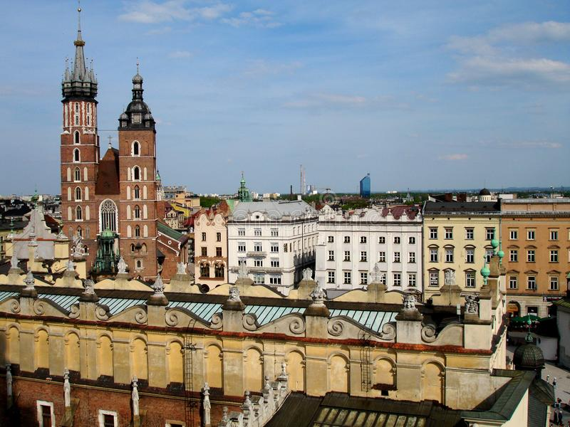 Old City of Krakow Poland. Snapshot taken from a rooftop in old Krakow, Poland a popular travel destination royalty free stock images