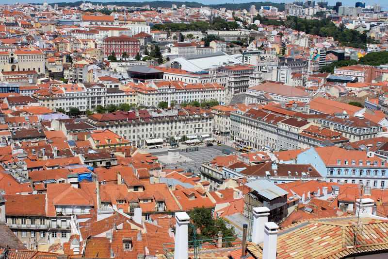Download Old city of Lisbon stock image. Image of urban, capital - 24827895