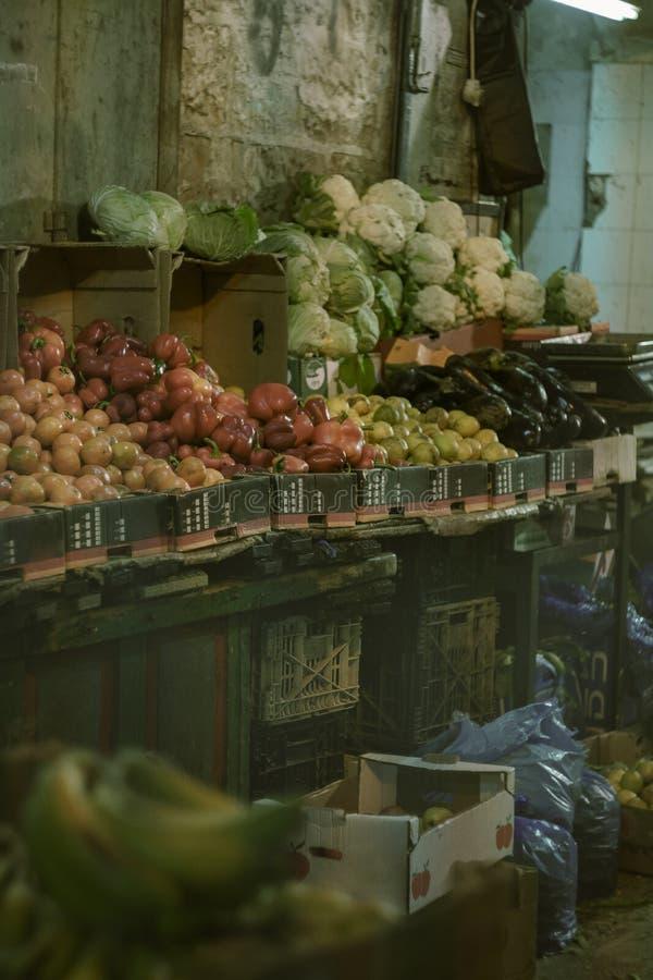 Old city market in Jerusalem royalty free stock photo