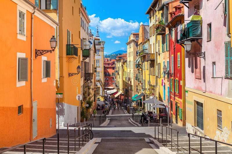 Old city of Nice, France. royalty free stock photos