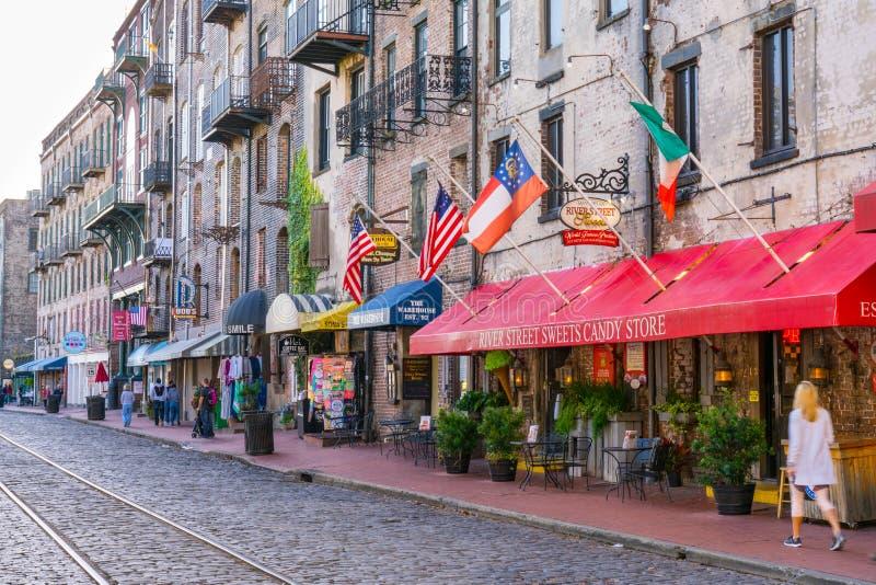 Old City of Savannah, Georgia royalty free stock photography