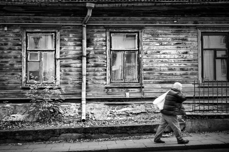 Old City Street In Vilnius Stock Images