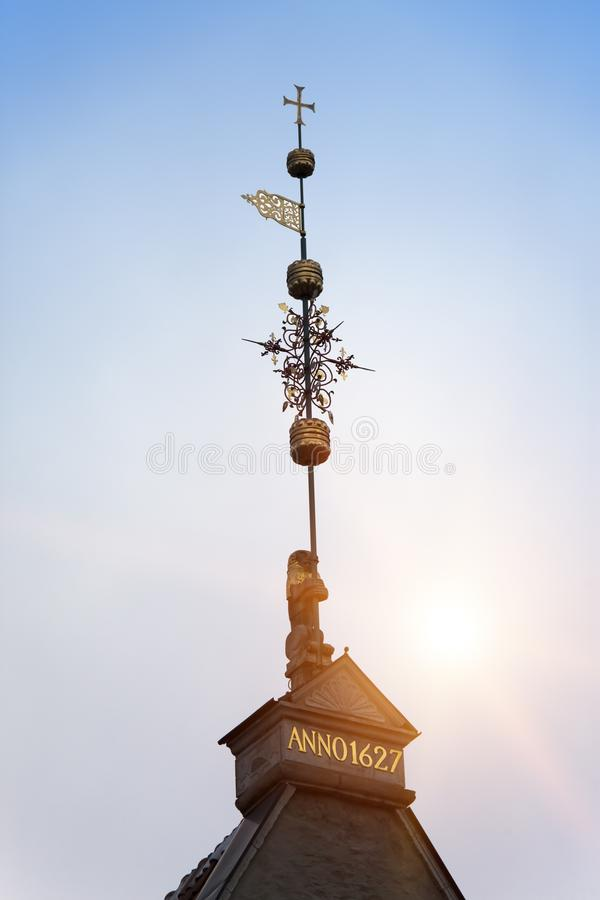 Old city, Tallinn, Estonia. A medieval weather vane.  royalty free stock photo