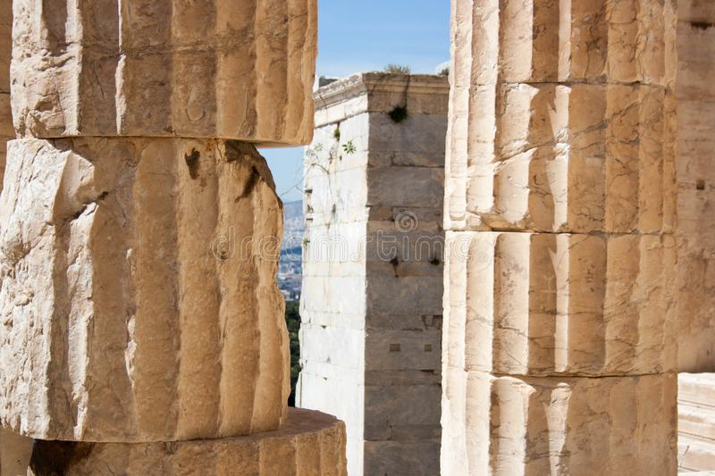 Old city, travel europe, greek stock image