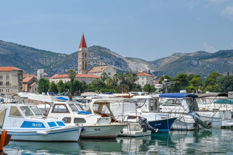 The old city of Trogir in Croatia stock images