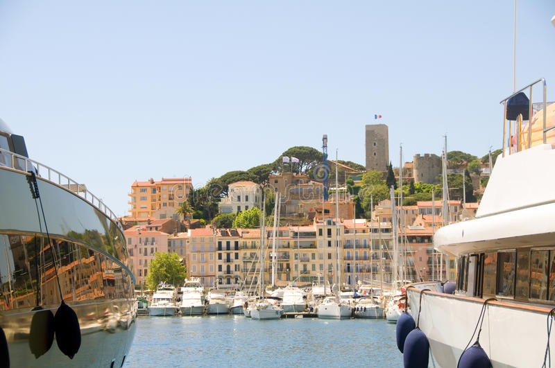 Download Old City Two Yachts Cannes French Riviera Stock Image - Image: 25211479