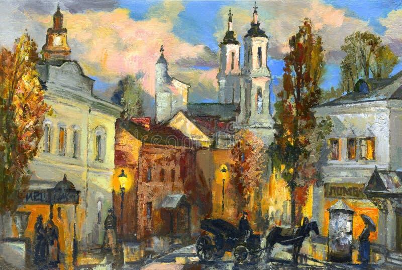 Download The old city of Vitebsk stock illustration. Illustration of canvas - 11712433