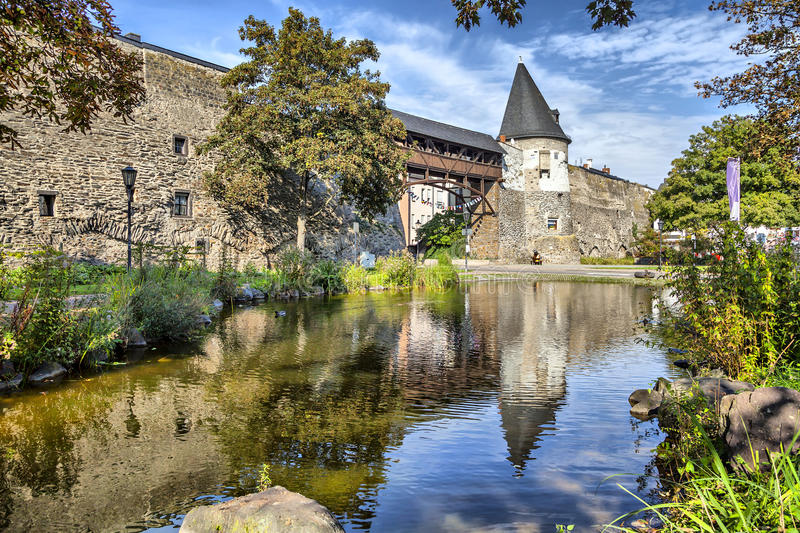 Old city wall of Andernach. Germany royalty free stock images