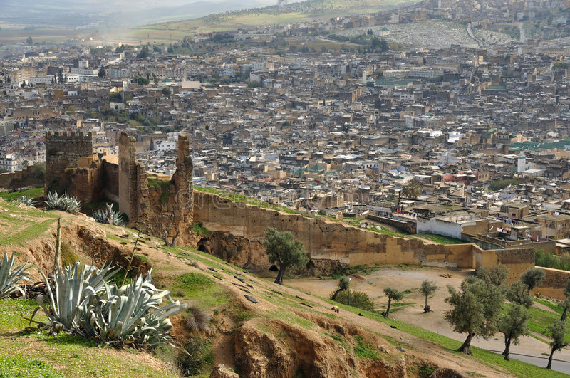 The Old City Wall And The Medina Of Fes Royalty Free Stock Photography