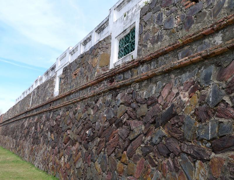 Old city wall. / Southern Thailand royalty free stock photos