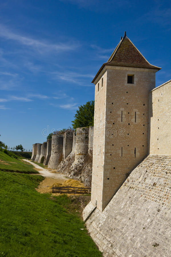 Download Old city walls - Provins stock photo. Image of gate, entrance - 21817104
