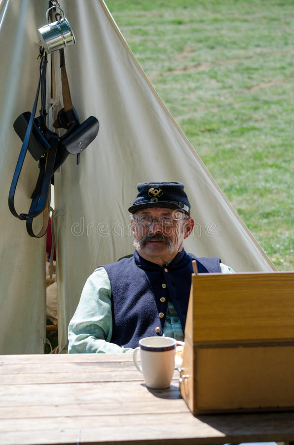 old Civil war soldier royalty free stock image