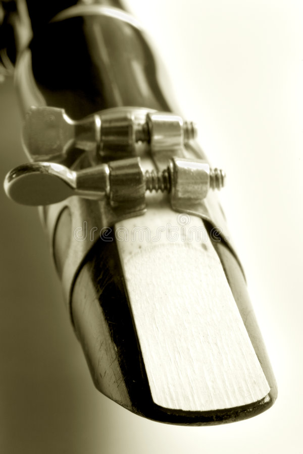 Old Clarinet. Photo of an old clarinet stock photography