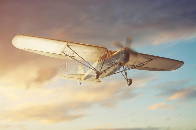 Old classic airplane stock photos