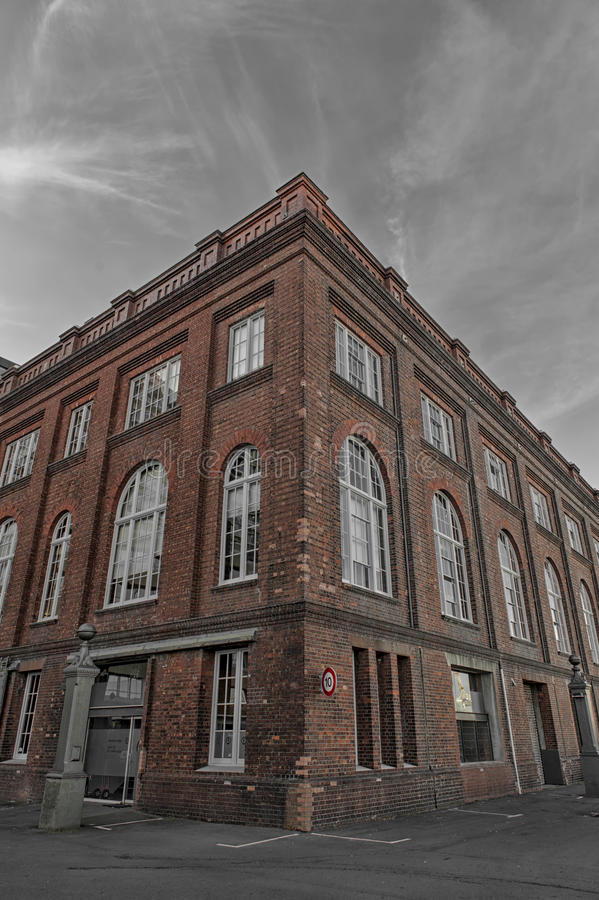 Old classic brick building in Wellington, capital city of New Zealand royalty free stock image
