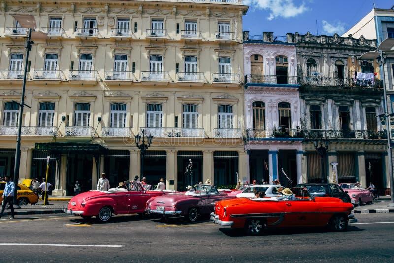Old classic cars in Havana, Cuba. A few beautiful classic cars in Havana, Cuba royalty free stock photo