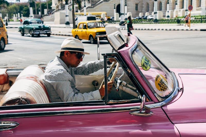 Old classic cars in Havana, Cuba. A few beautiful classic cars in Havana, Cuba royalty free stock photos