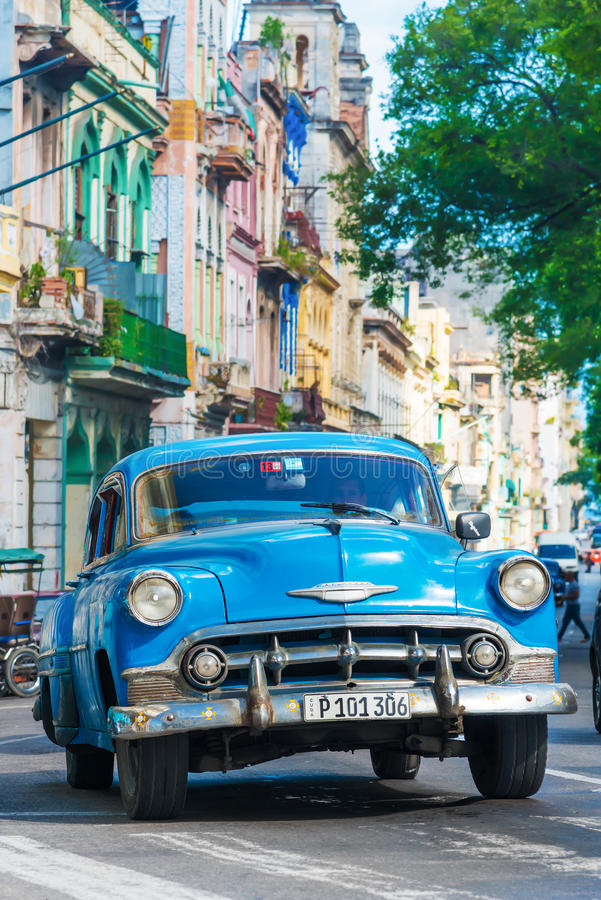 Old Classic Cars Used A Taxis In Havana Editorial Stock Photo ...