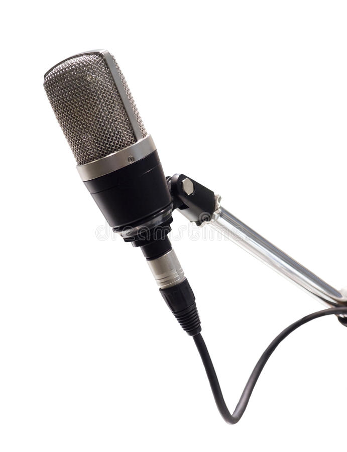 Old classic professional microphone isolated