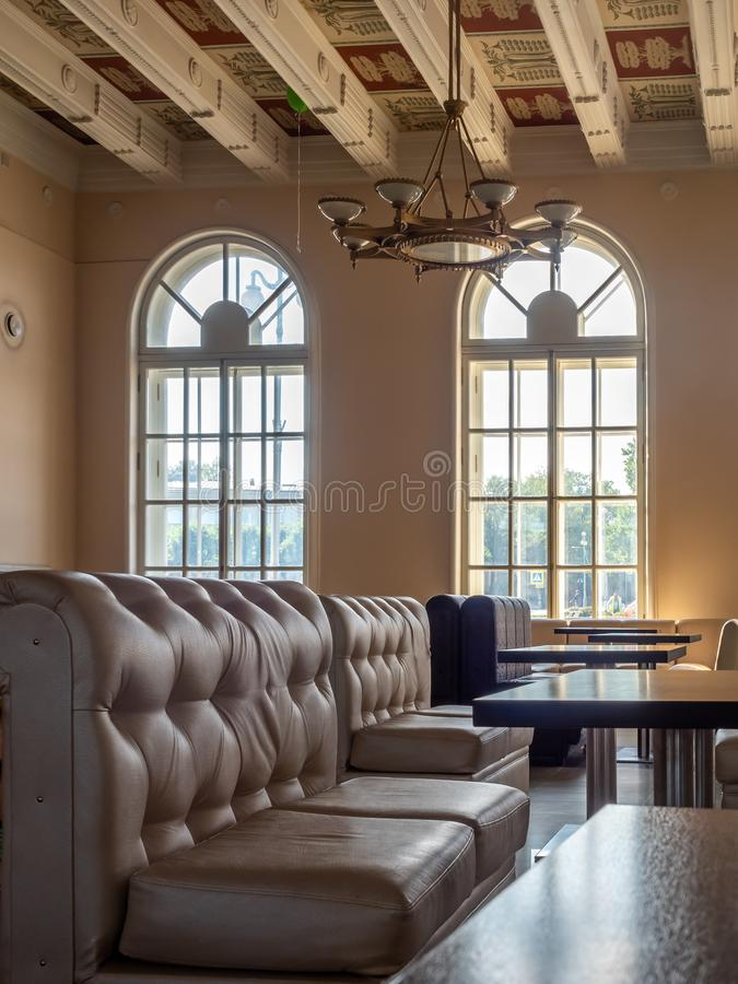 Old classic Soviet style room in Russia royalty free stock photos
