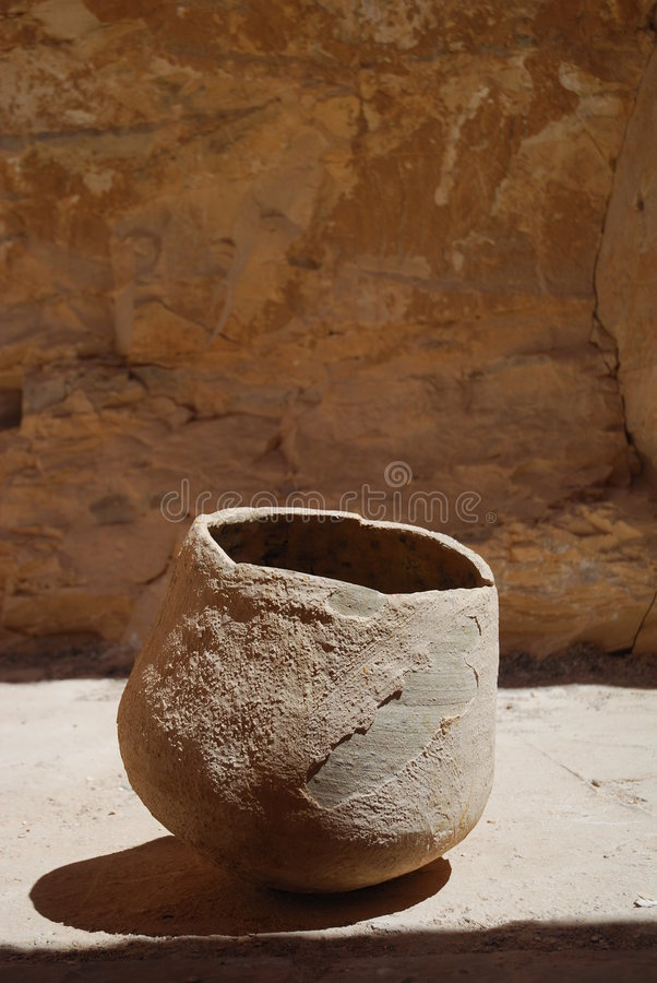 Old clay pot. stock photo