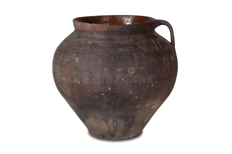 Old clay pot stock image
