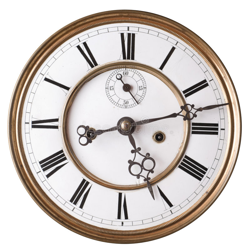 Old clock. stock photography
