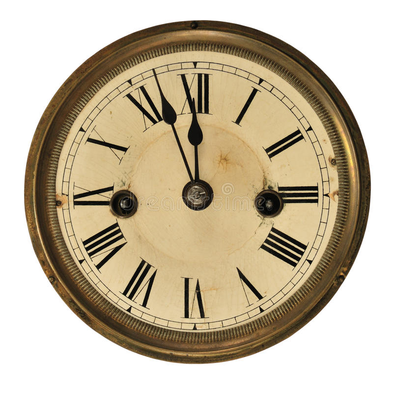 Free Old Clock Detail Royalty Free Stock Images - 11986189