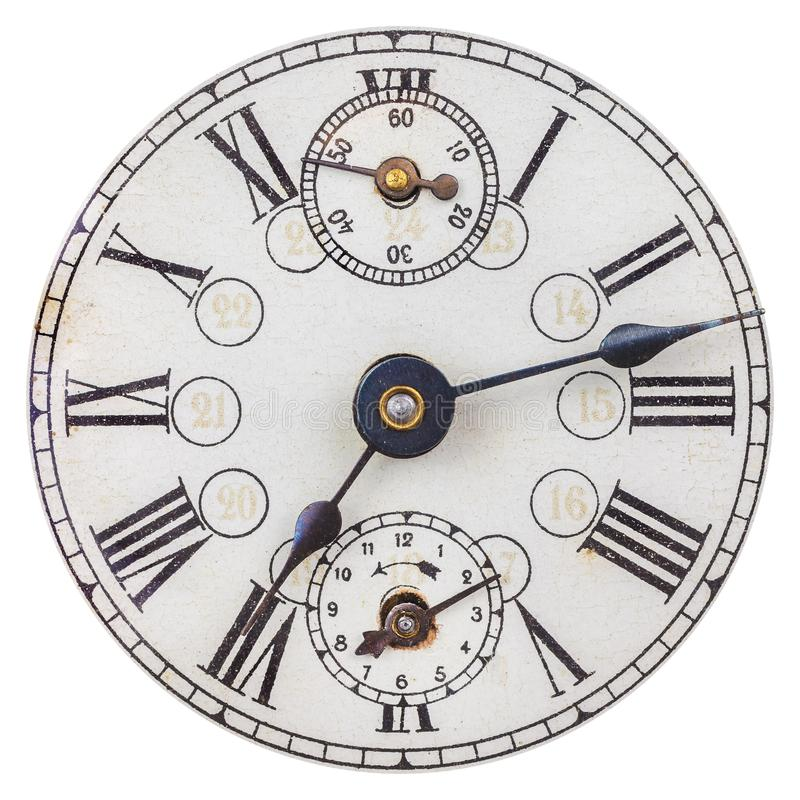 Free Old Clock Face With Roman Numbers Stock Photo - 113093160