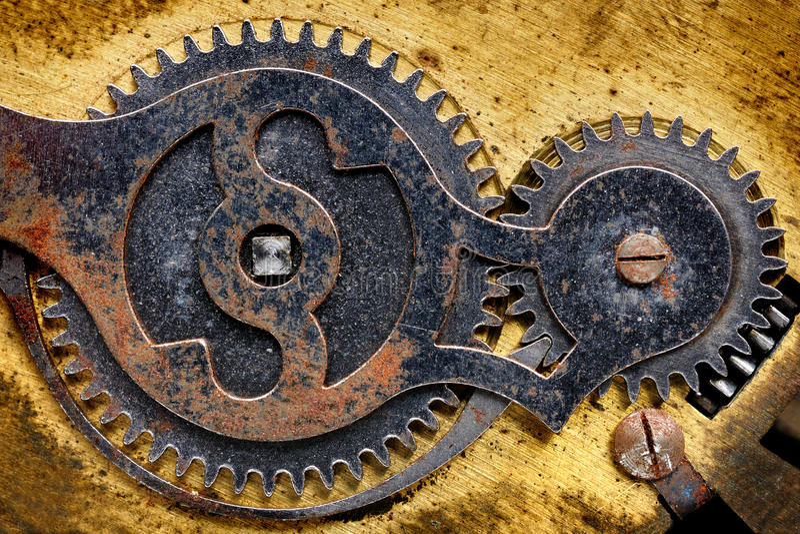 Download Old clock mechanism stock image. Image of inside, watch - 30970201