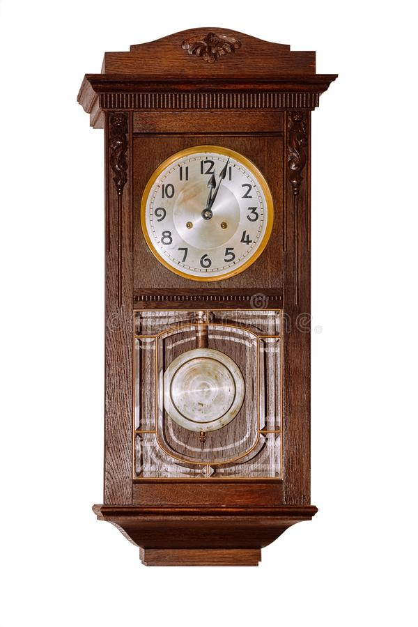 Old clock over white royalty free stock photos