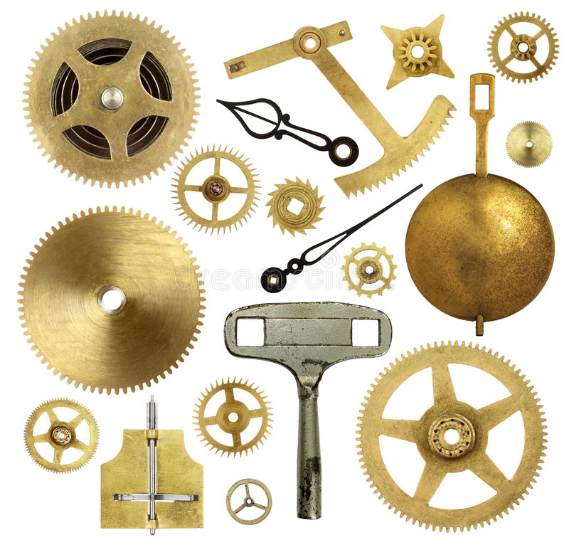 Download Old Clock Parts Royalty Free Stock Photos - Image: 30970378