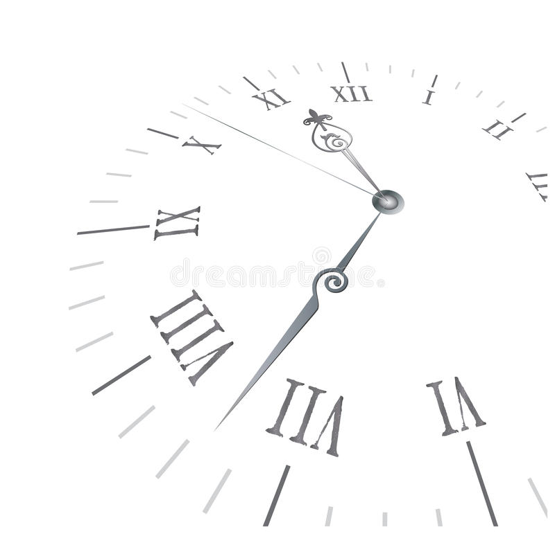 Old clock with roman numbers royalty free stock photos