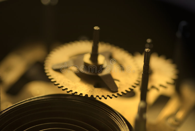 Old clock's parts - III stock photo