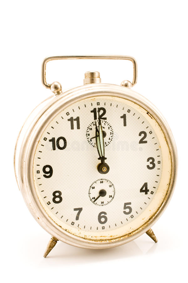 Download Old clock with stuck hands stock image. Image of minute - 20257459