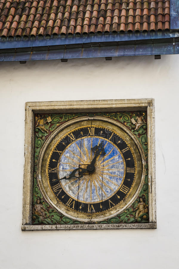 Old Clock On Tallinn Building Stock Photo Image Of Architecture Exterior 40063278