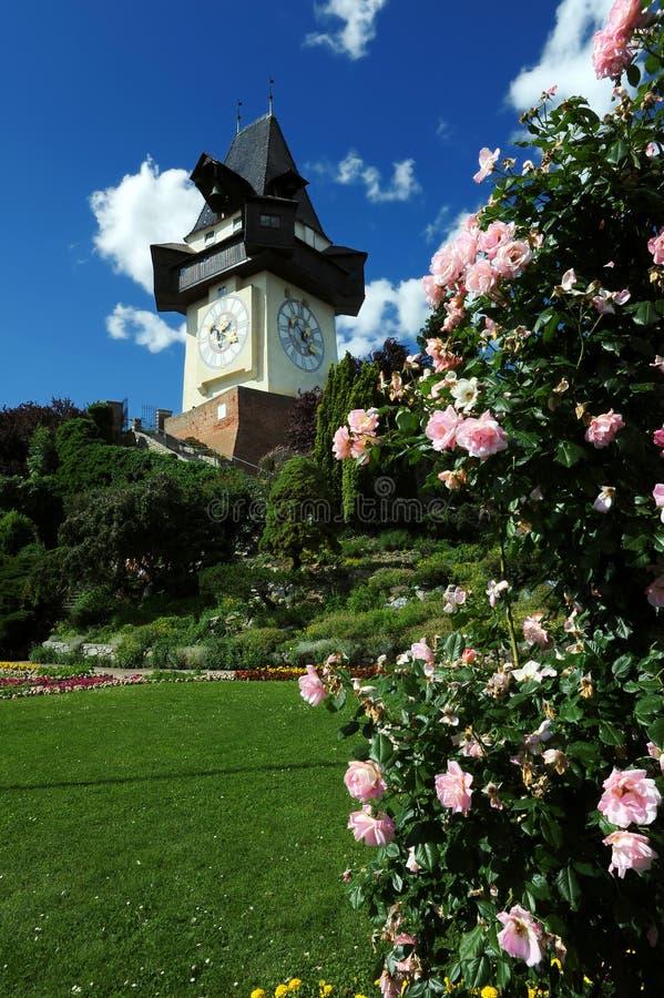 Old clock tower in Graz