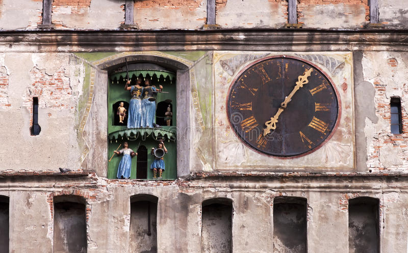 Old clock tower - RAW format royalty free stock image