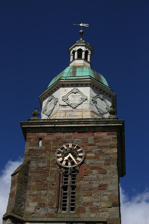 Free Old Clock Tower With Copper Roof Stock Images - 70360334
