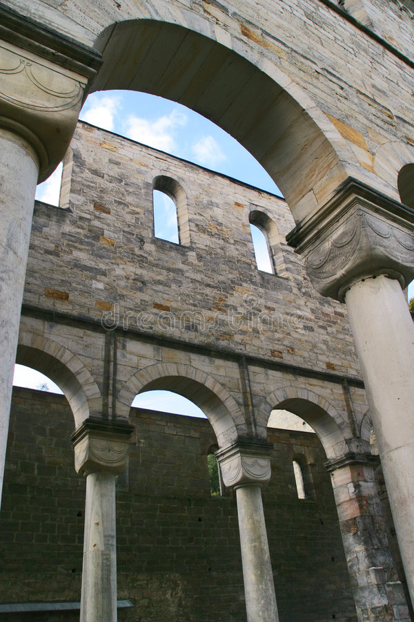Old cloister royalty free stock images